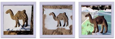 Sueños – serie 1 camels tryptich